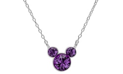 "Disney ""Mickey"" February Crystal Pendant Necklace"