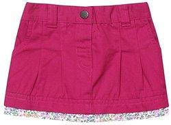 JoJo Maman Bebe Twill Mini Skirt (Baby)-Rhubarb -6-12 Months