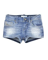 Diesel Girls' Washed Effect Denim Shorts Prira, Sizes 6-16 (10)