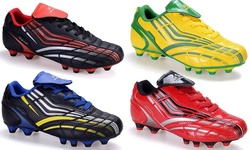 Soccer Shoes: Black-grey-green/6.5