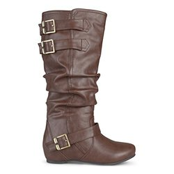 Brinley Co Women's Cammie Slouch Boot, Brown, 10 M US