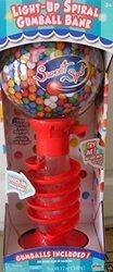Sweet Spot Light-Up Spiral Gumball Machine Bank - Red