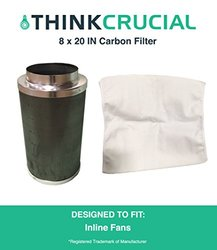 "Think Crucial Carbon Inline Fan Filter & Odor Control - Size: 8"" x 20"""