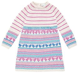 JoJo Maman Bebe Fair Isle Dress (Baby) - Natural-12-18 Months