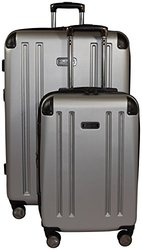 Kenneth Cole Reaction 8 Wheelin Expandable Luggage Spinner Wheeled Suitcase, 2 Pc Set , 29 & 20-inch (Light Silver)