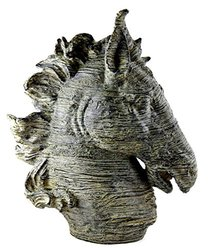 Spirit Horse Head Bust Large Bronze Color Sculpture Museum Quality 16""