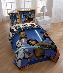 Star Wars Rebels Twin Comforter Set - Orange/Blue (TI1493-Q3/14L18951)