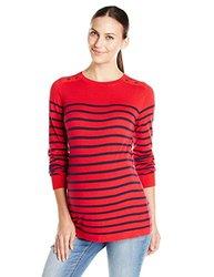JoJo Maman Bebe Breton Jumper - Red/Navy Stripe-Medium Red/Navy Stripe