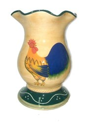 Rooster Ceramic decorative vase