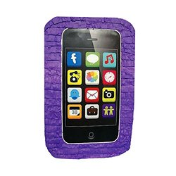 """Aztec 21"""" x 13"""" x 5"""" Cell Phone Party Pinata - Purple"""