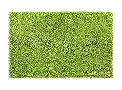 """Dri Shag Chenille Non-Slip Area Rug for Bath, Kitchen, Home - 36"""" x 28"""" (Green Apple)"""