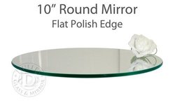 """TroySys - 10"""" Glass Table Mirrors - Wedding/Party Centerpieces - Set of 5"""
