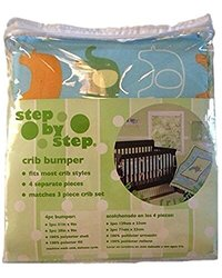 Step By Step Baby Crib Bumper Animals Best Friends