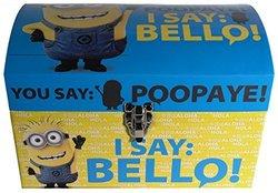 "Despicable Me's Minions ""I Say Bello"" Blue & Yellow Storage Dome Trunk, Medium"