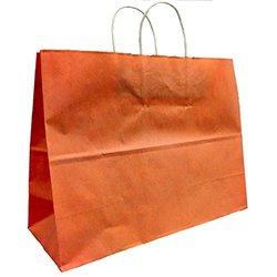 Kraft Shopping Bags - Terra Cotta - SIze: 16 W x 12 H x 6 T - Pack of 25