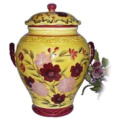 COOKIE JAR, CANISTER SET, TUSCANY GARDEN DECOR