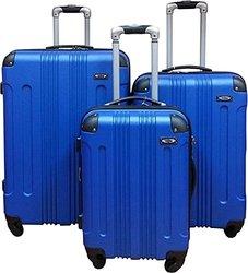 Kemyer Series 650 Hardside Luggage Spinner Wheeled 3 Pc Suitcase Set 28, 24 & 20 inch (Blue)
