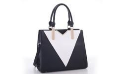 MKF Collection Sharron Designer Handbag - Black/White