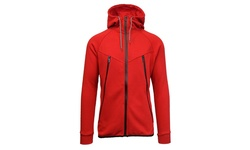 Men's Galaxy By Harvic Marled Fleece Hoodie - Red Size: Small