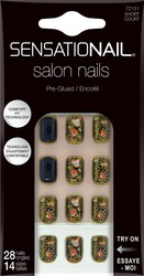 Sensationail Golden Color Pre-Glued Salon Nails - 28 count