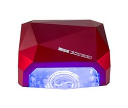 36W Lumcrissy Diamond Shaped CCFL & LED UV Nail Lamp 2in1 Nail Dryer - Red