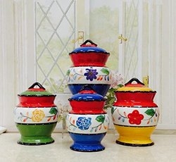 Viva Collection-Painted Deluxe 4-Piece Canister Set