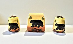 Tuscan Bear Collection Hand Painted Napkin, Salt and Pepper Stove tove Set, 86428 By ACK