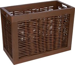 Trademark Innovations BSKT-WILLOW Rectangular Willow with Wood Frame Storage Basket by