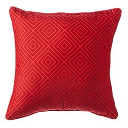 Red Labyrinth Decorative Outdoor Throw Pillow