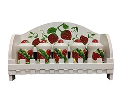 3D Strawberry 5 Piece Spice Jar with Rack