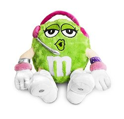 MMs Chocolate Tunes Plush Green MMs MP3 Speakers