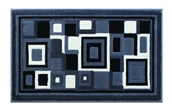 Modern Rug Door Mat 2 Ft. X 3 Ft. 4 In. Grey G 26