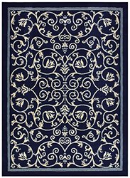 "Rug Style Modern Contemporary Area Rugs - Navy Blue - Size: 4'11"" x 6'11"""