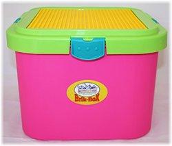 Romanoff Matty's Toy Stop Brik-Box Storage Container - Brite