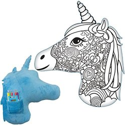 iscream Unicorn 'Color-Me' Activity Coloring Pillow