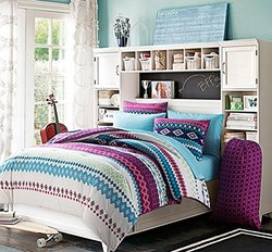 5 Pc, Girls, Bed in a Bag, Twin Size, Bedding By Karalai Bedding Collection (twin)