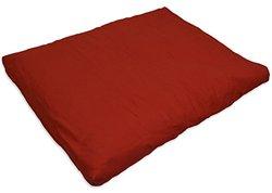 YogaAccessories Cotton Zabuton Meditation Cushion - Cardinal Red