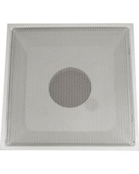 "24"" x 24"" T-Bar Drop Ceiling Perforated Return Grill - Metal Back Casing - With 10 ""Collar"