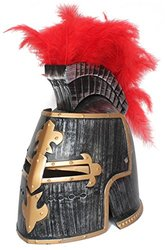 OliaDesign Middle Ages Crusader Helmet, Gold, One Size
