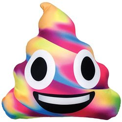 iscream Emoji Unicorn Poop Microbead Pillow