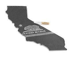 Artaste California State Slate Cheese Board and Soapstone Chalk