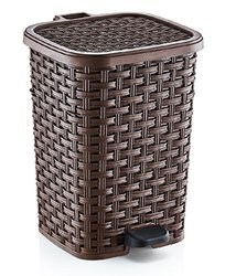 3.1-Gal. Rattan Style Compact Trash Can