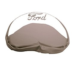 R4119 - Ford Tractor Pan Seat Cover Cushion Grey and White with Grey Ford Logo