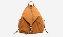 Sociology Women's Faux Suede Fringe Backpack - Cognac