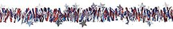 Amscan Americana Fourth of July Party Tinsel Garland Decoration, Multi Color, 16.5 x 15.3""