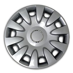 TuningPros WSC2-068S15 Hubcaps Wheel Skin Cover Type 2 15-Inches Silver Set of 4