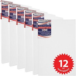 "US Art Supply 20 X 30"" Professional Acid Free Stretched Canvas (6-Pack)"
