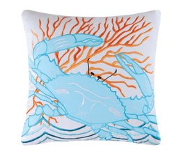 C & F Enterprises Tropic Escape Crab Pillow