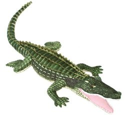 "Fiesta Toys 72"" Plush GREEN ALLIGATOR, JUMBO Life Size"