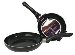 "Laketian Healthy Nonstick Ceramic Coated Frying Pan - 3 Pcs Eco Friendly Durable Fry Pan Cookware Set11.8"",9.5"", 7:"